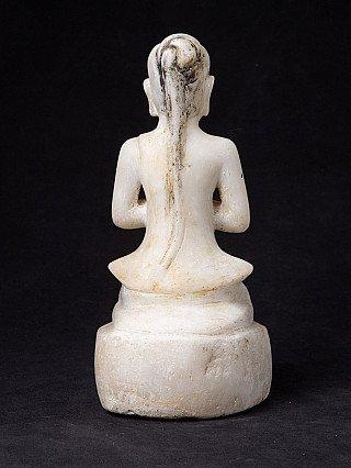 Antiek Birmees marmeren Mara beeld