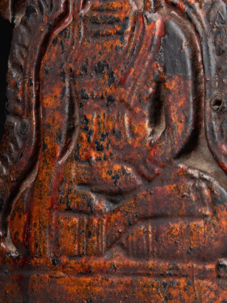 Alte holzerne Buddha Panel