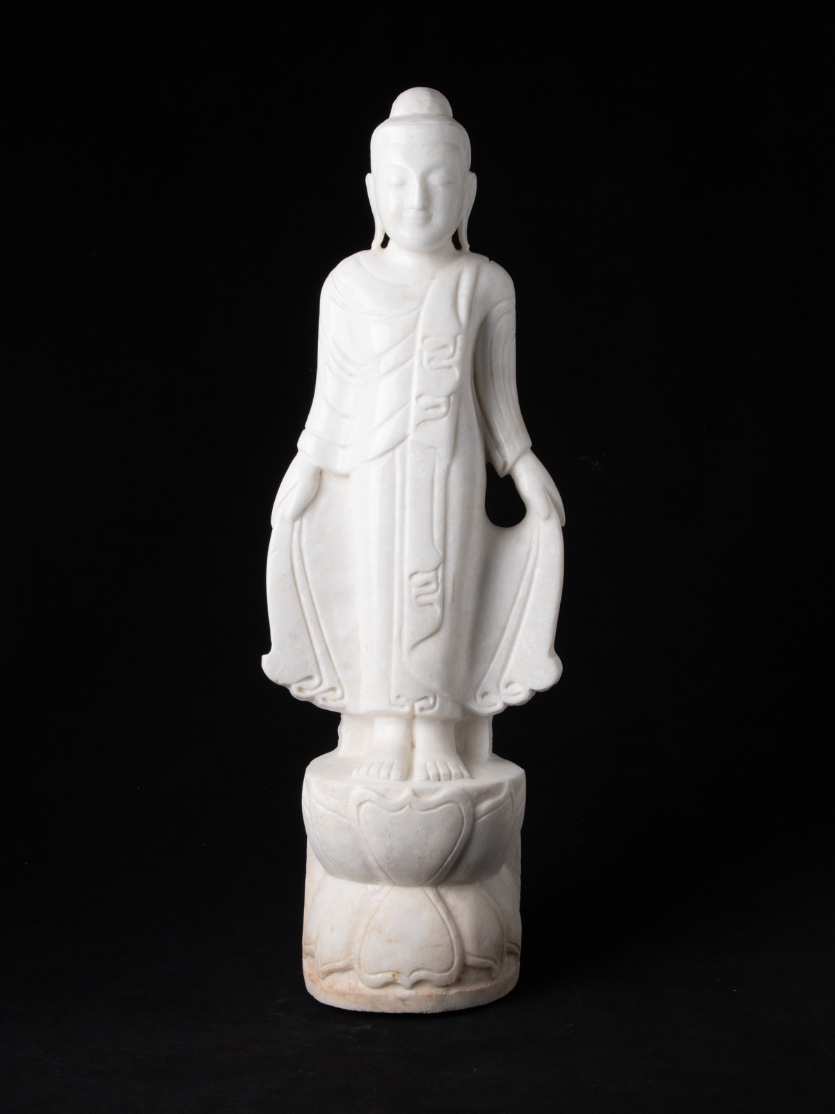 Newly made marble Buddha statue from Burma
