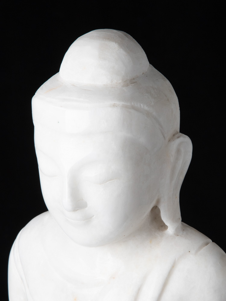 Newly made marble Buddha statue from Burma made from Marble