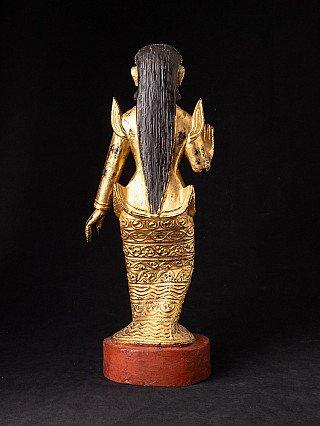 Old wooden Burmese Nat statue