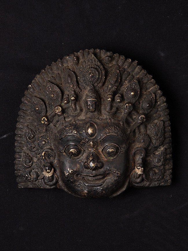 Antique bronze Vairab mask