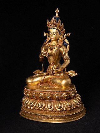 Bronze Nepali Vajrasattva statue
