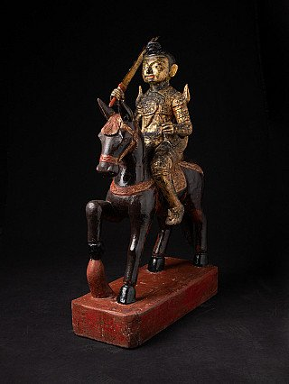 Large antique wooden Nat statue