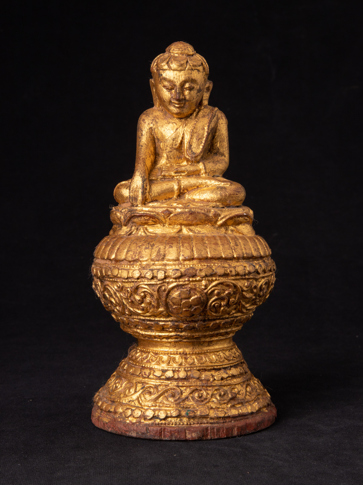 Old wooden Burmese Buddha from Burma made from Wood