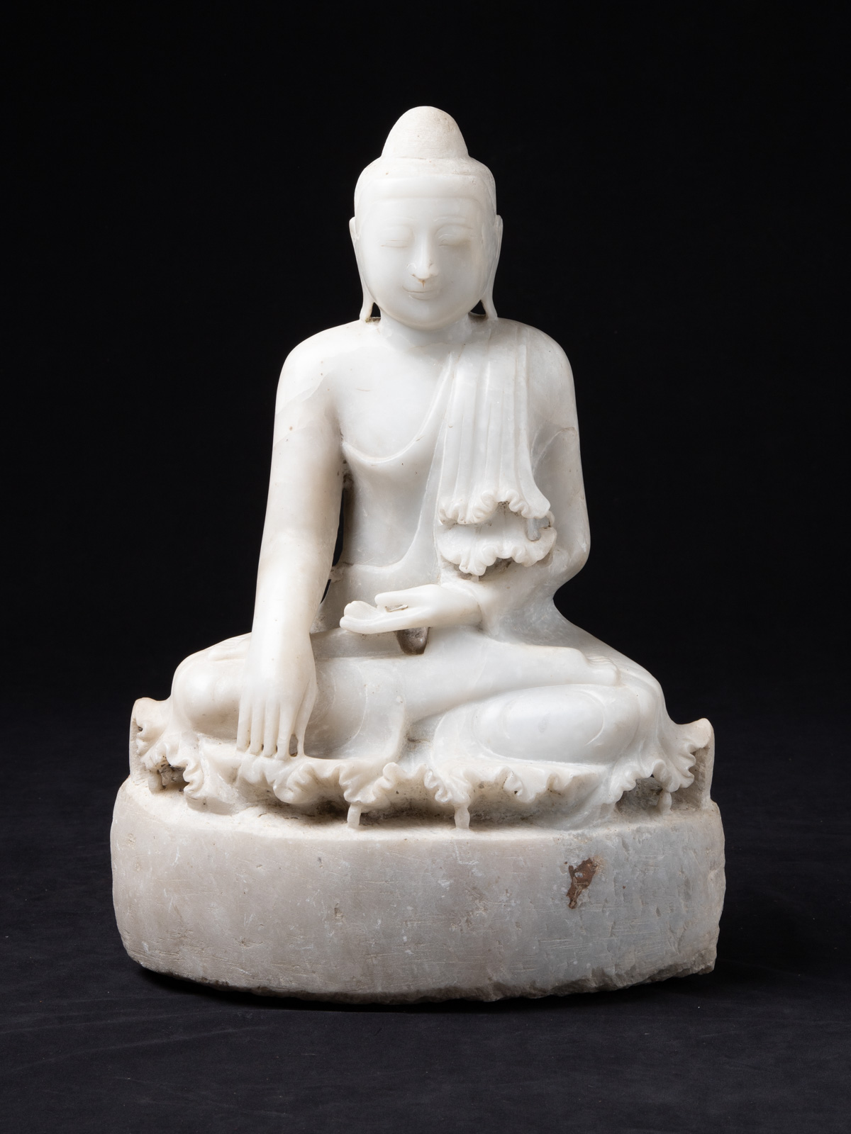 Old marble Mandalay Buddha statue from Burma made from Marble
