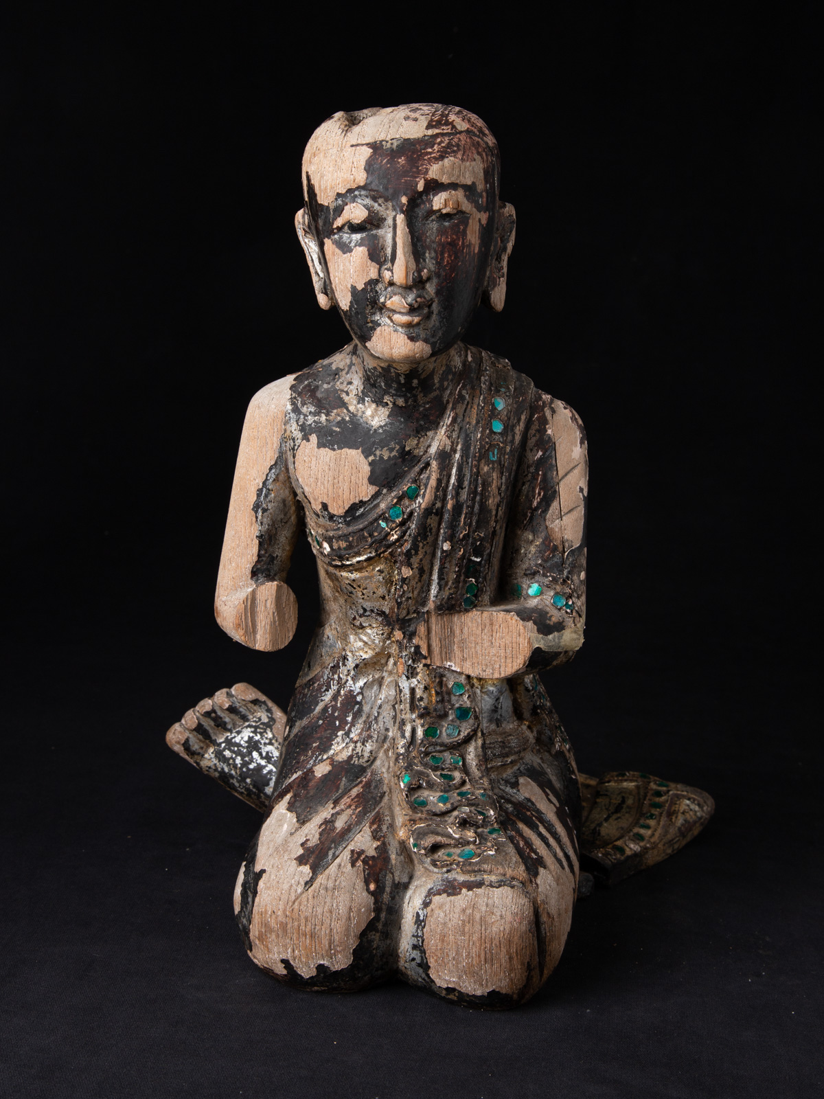 Old Burmese Monk statue from Burma