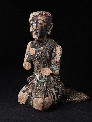 Old Burmese Monk statue