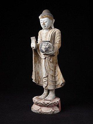 Alte Birmanische Mandalay Buddha Figur