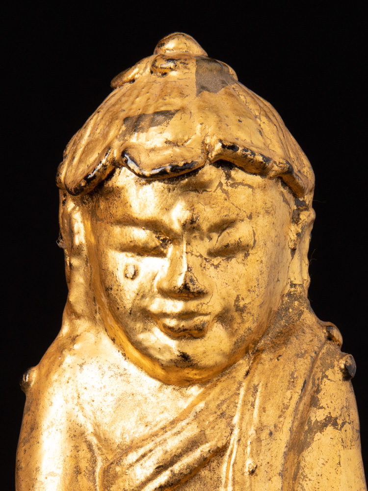 Antieke Birmese Lotus Boeddha