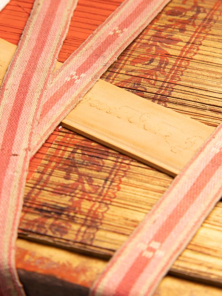 Antikes Palmblatt Manuskript - Parabaik
