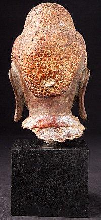 Antiek bronzen Boeddhahoofd