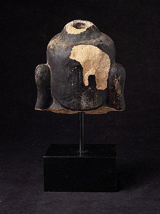 Antique sandstone Buddha head