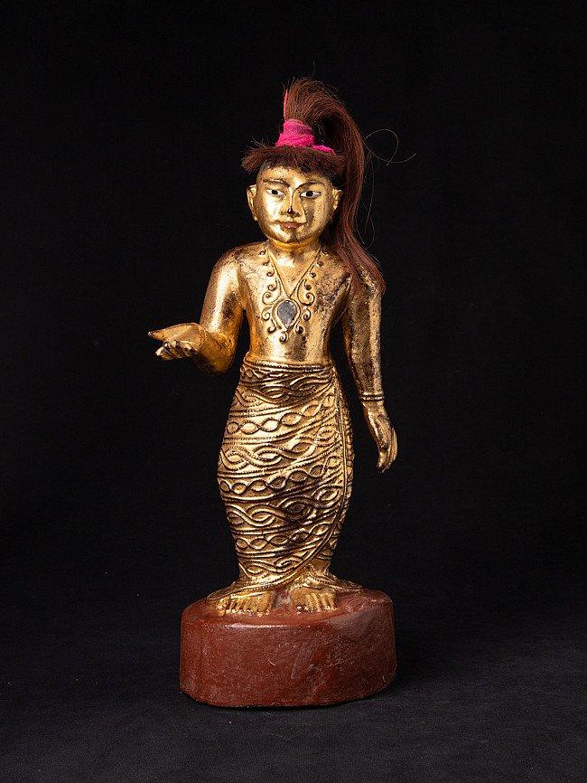 Antique standing Burmese Nat statue