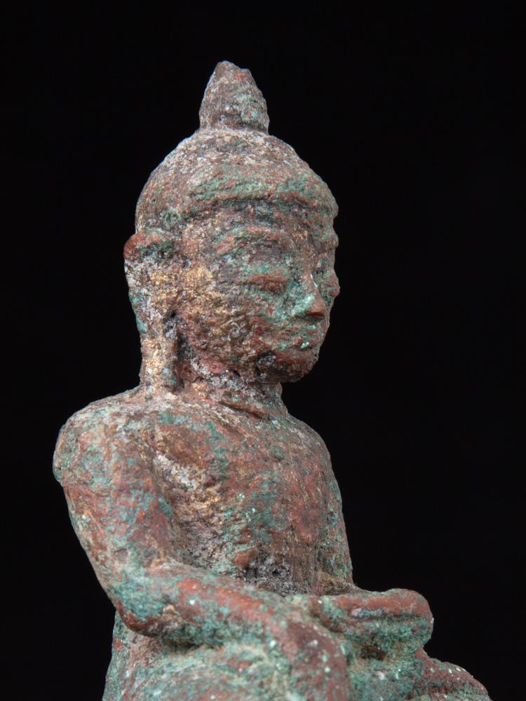 Very old fragment of Vishnu statue from Burma made from Bronze