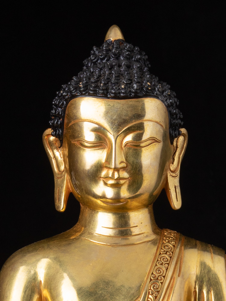 High quality Nepali Medicine Buddha statue from Nepal made from Bronze