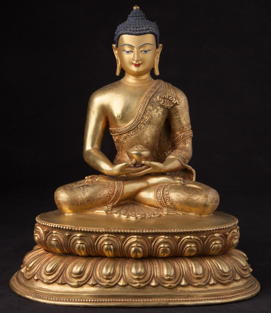 Newly made Nepali bronze Buddha statue from Nepal