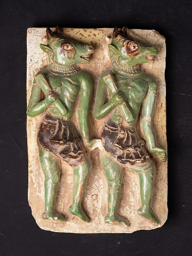 Antique Tile with Maras soldiers