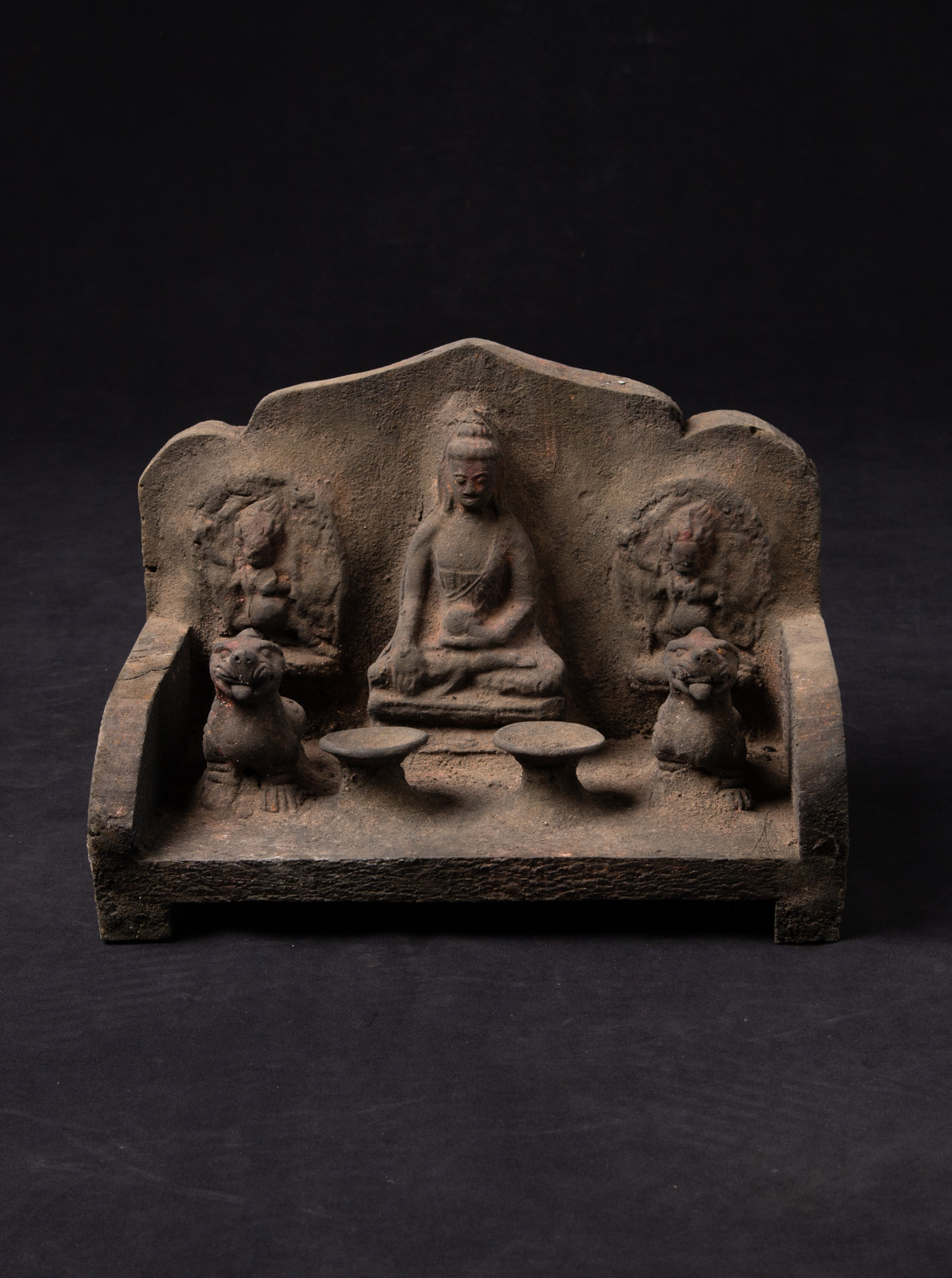 Old Nepali Buddha shrine from Nepal made from Wood