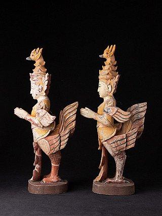 Oude set Kinnari beelden