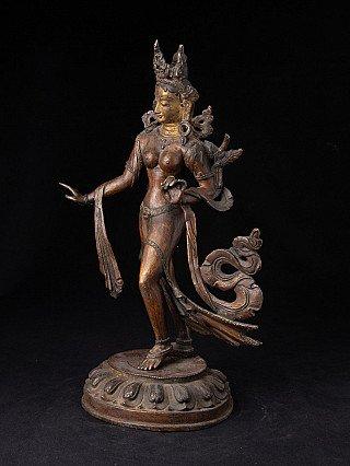 Antique bronze Tara statue