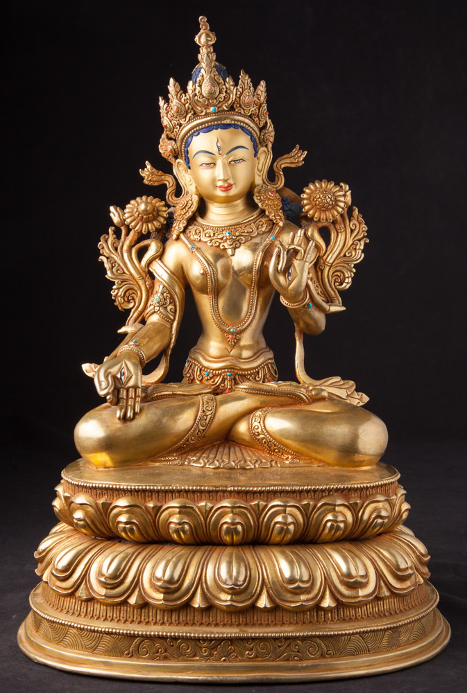 Old bronze Nepali Tara statue from Nepal