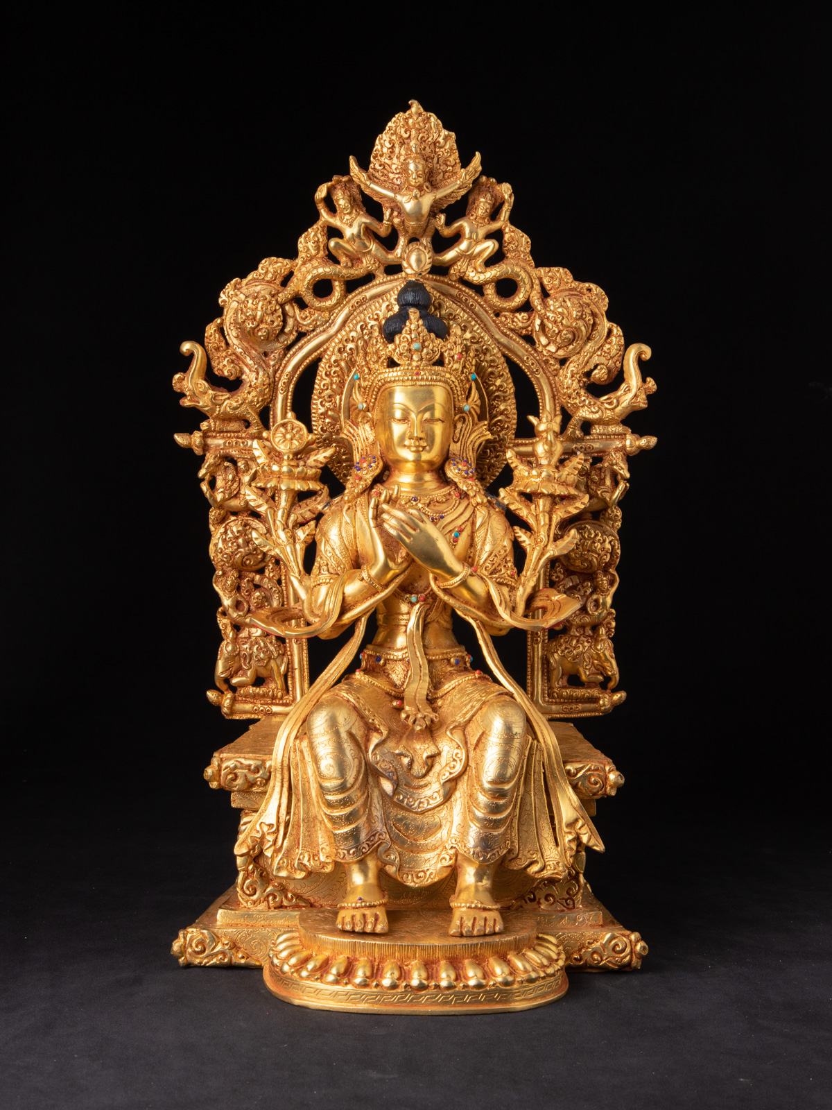 High quality Maitreya Buddha statue from Nepal made from Bronze