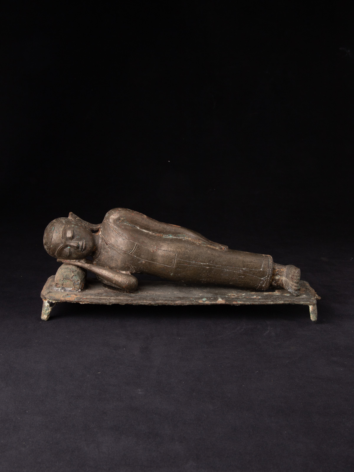 15th century Burmese Monk statue from Burma made from Bronze