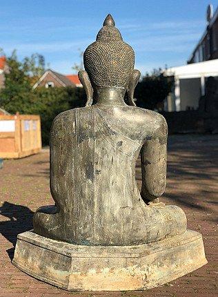 Large old bronze Buddha statue