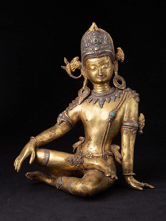 Alte bronze Indra Figur