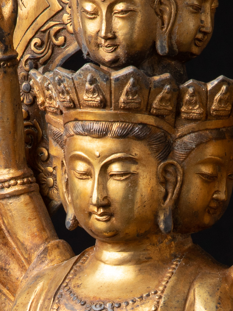Large old bronze Avalokiteshvara statue