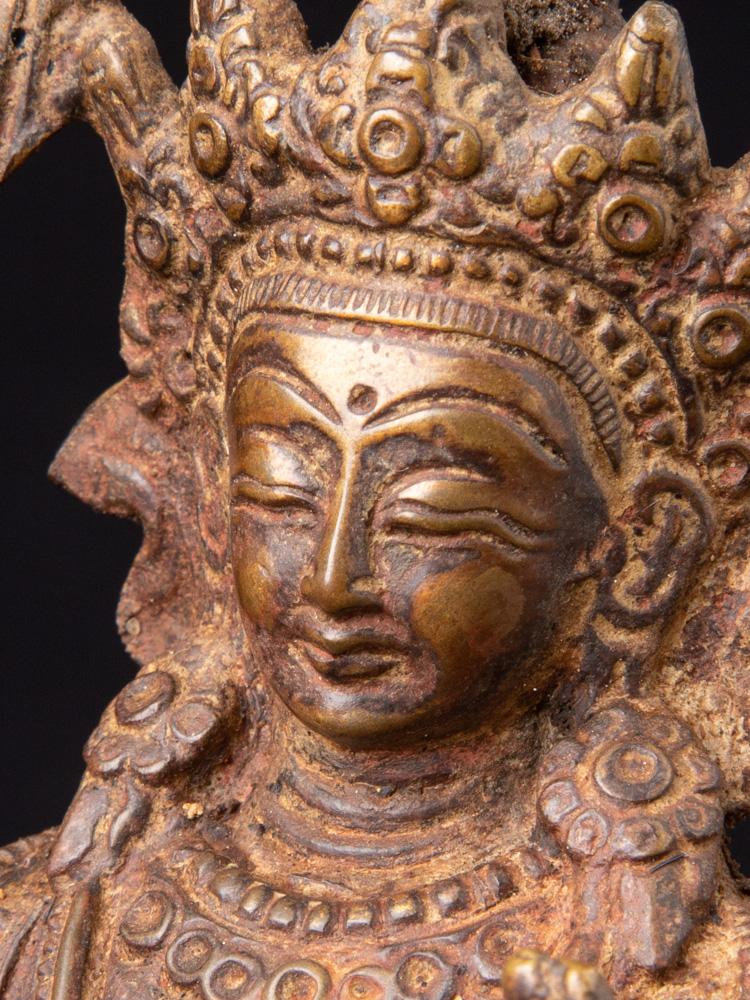 Bronze Manjushri statue