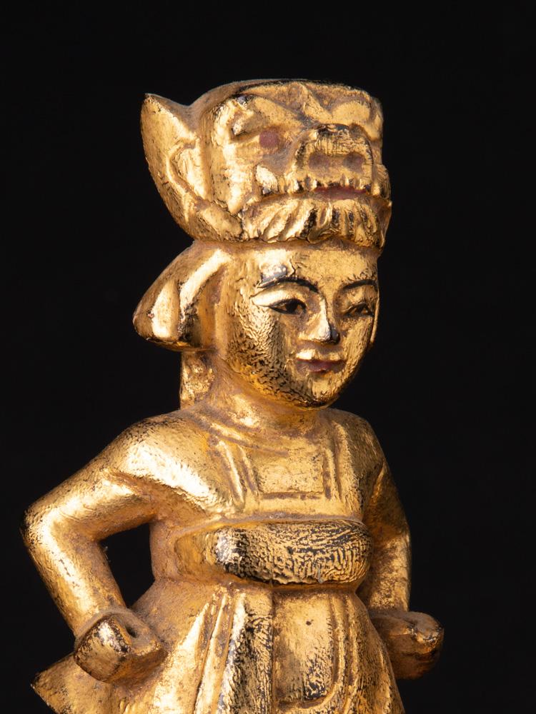 Antikes paar Birmanische Nat Figuren