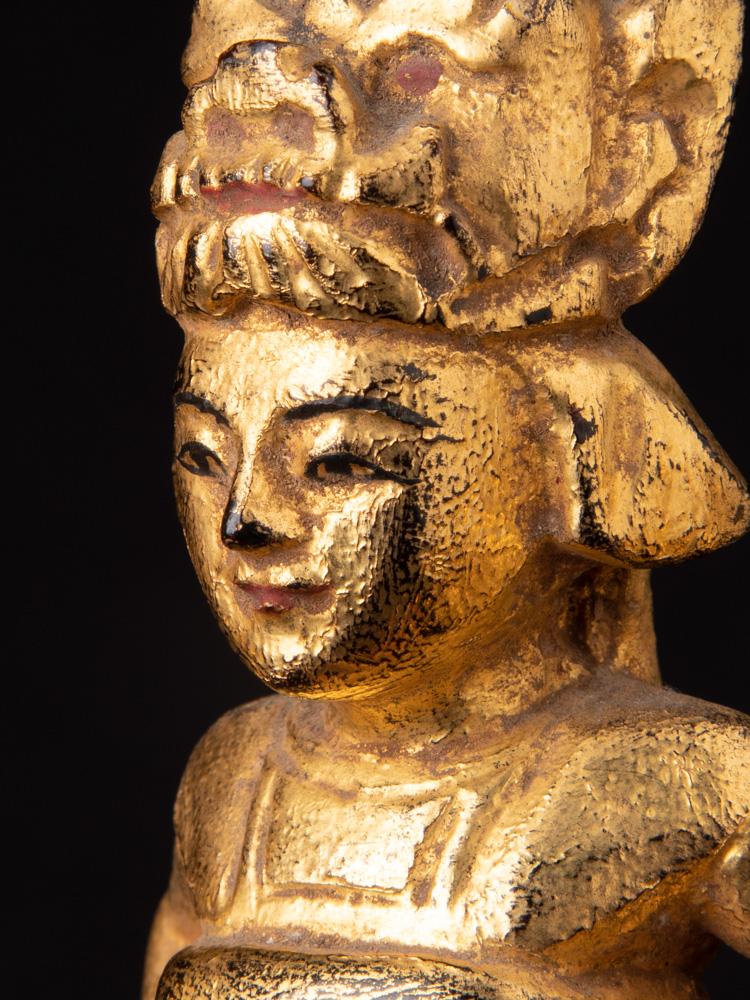 Antieke set Birmese Nat beelden