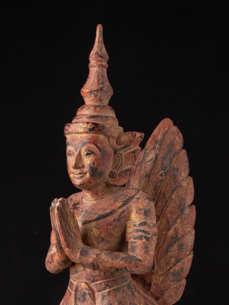 Paar hölzerne Kinnari Figuren