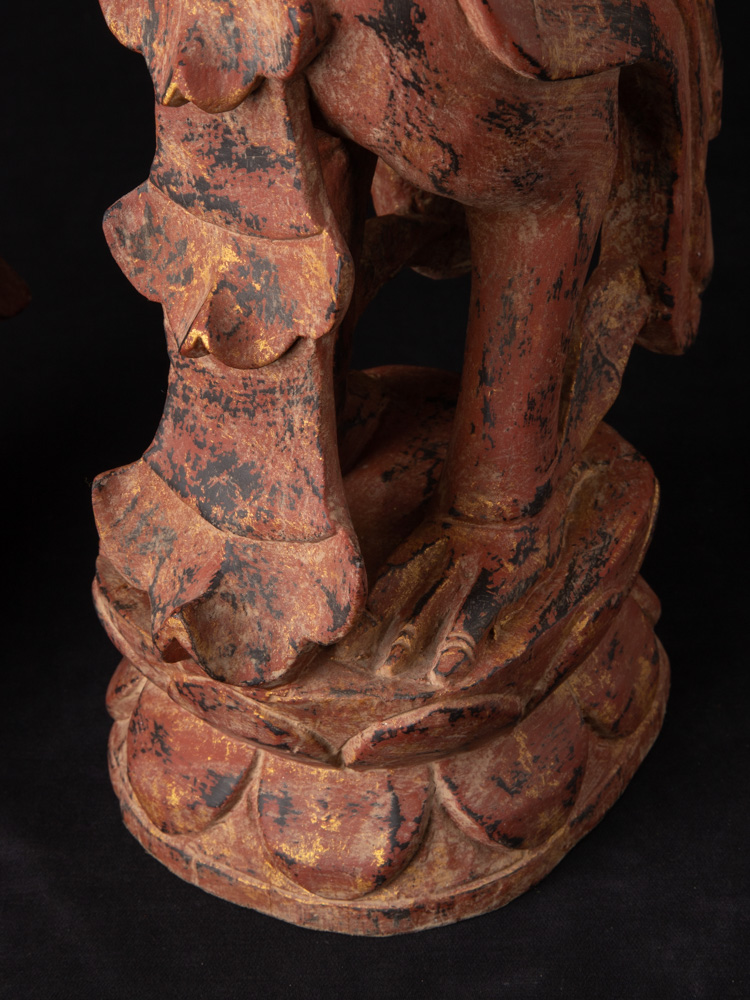 Pair of wooden Kinnari statues from Burma made from Wood