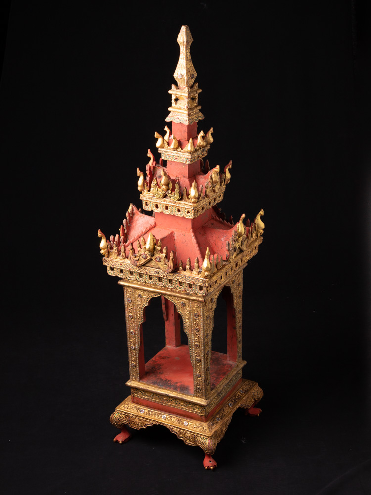 Antique Burmese wooden Temple
