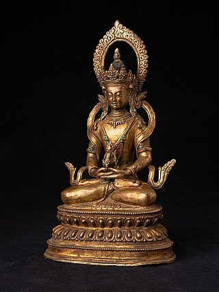Old bronze Aparmita Buddha statue
