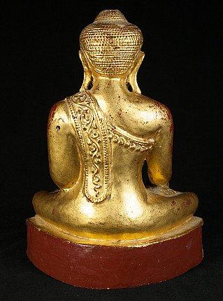 Oude houten Boeddha