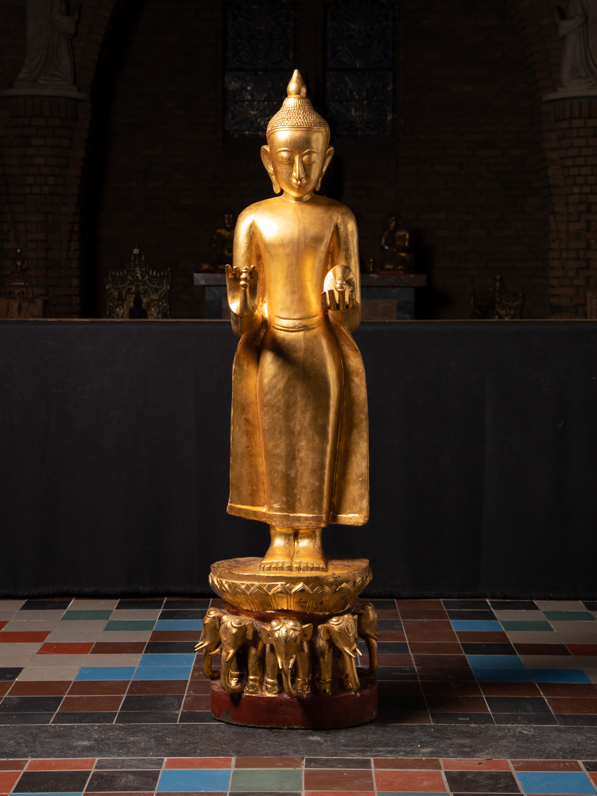 Large antique Bagan Buddha statue from Burma