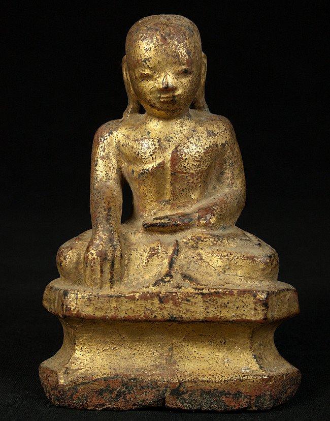 Antieke Birmese monnik