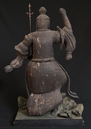 Antique Japanese Bishamon statue
