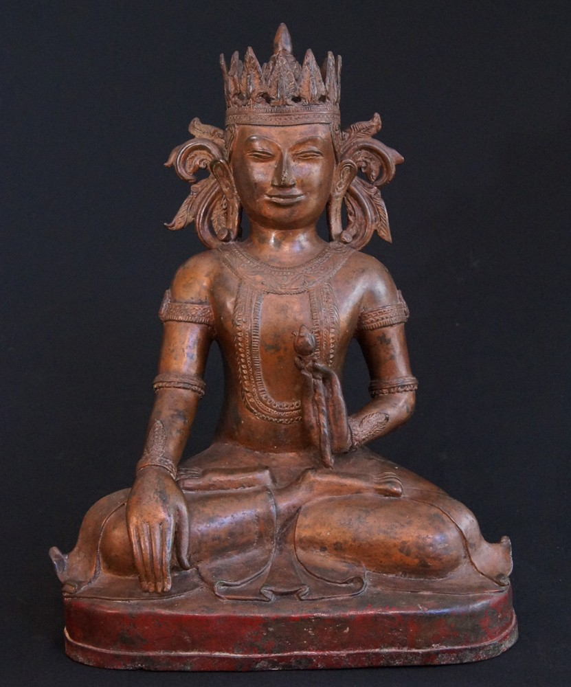 Old bronze Arakan Buddha from Burma