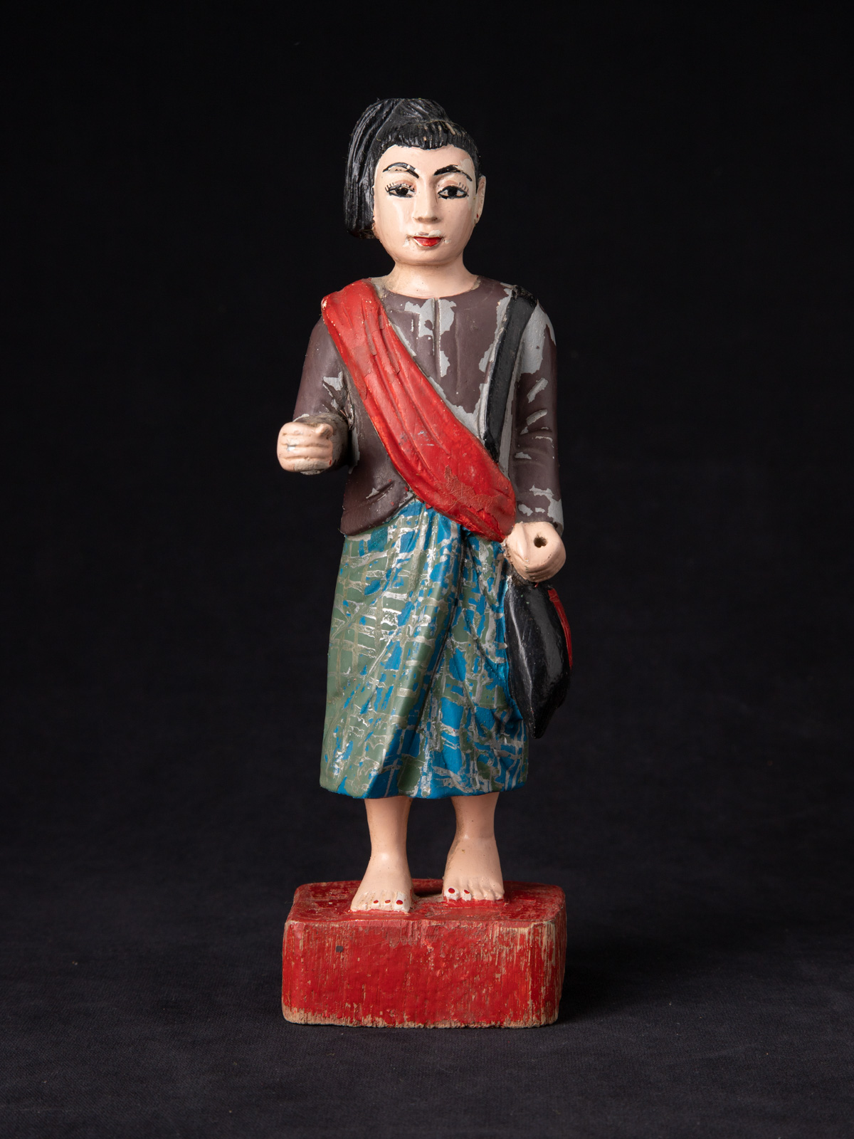 Old wooden Burmese Nat statue from Burma