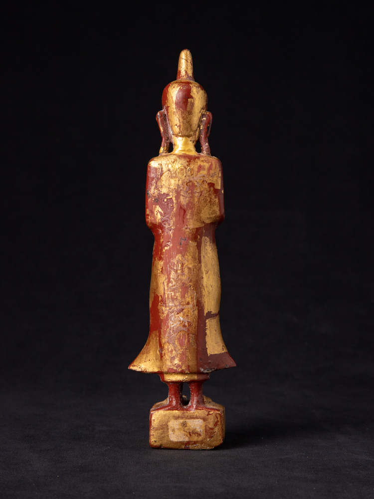 Antique Burmese Buddha statue from Burma made from Wood