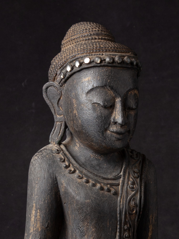 Wooden Burmese Buddha statue from Burma made from Wood