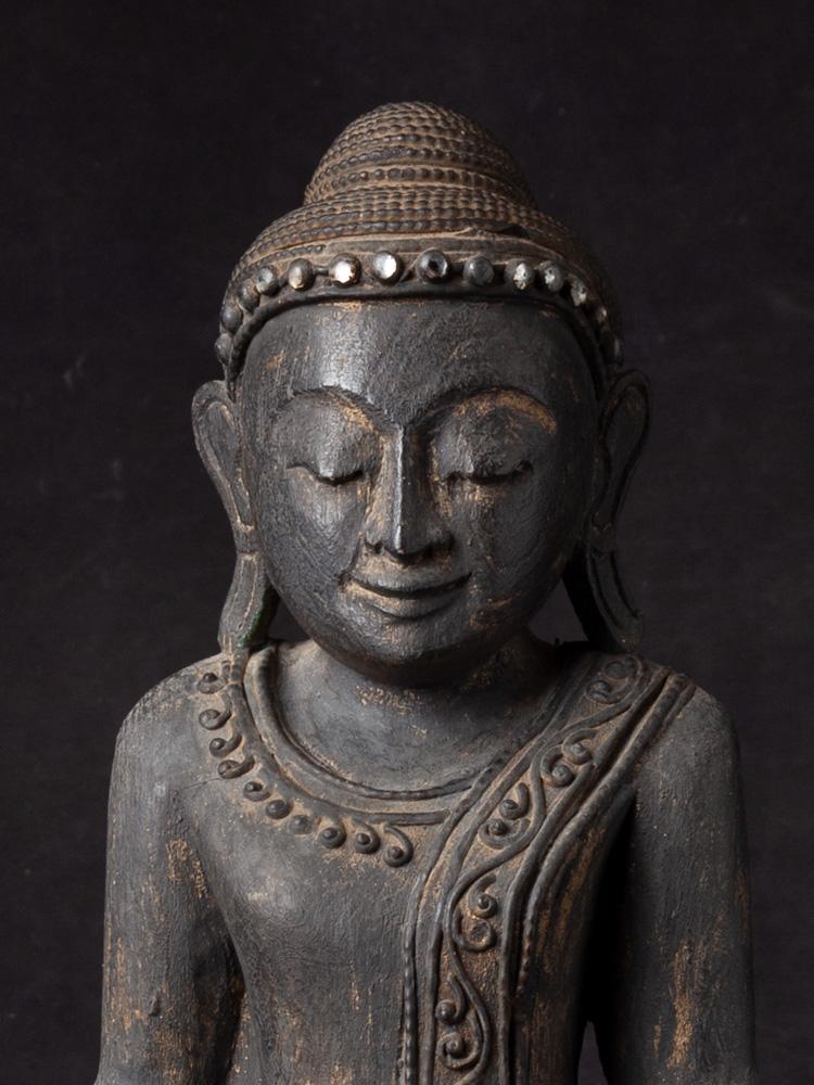 Wooden Burmese Buddha statue