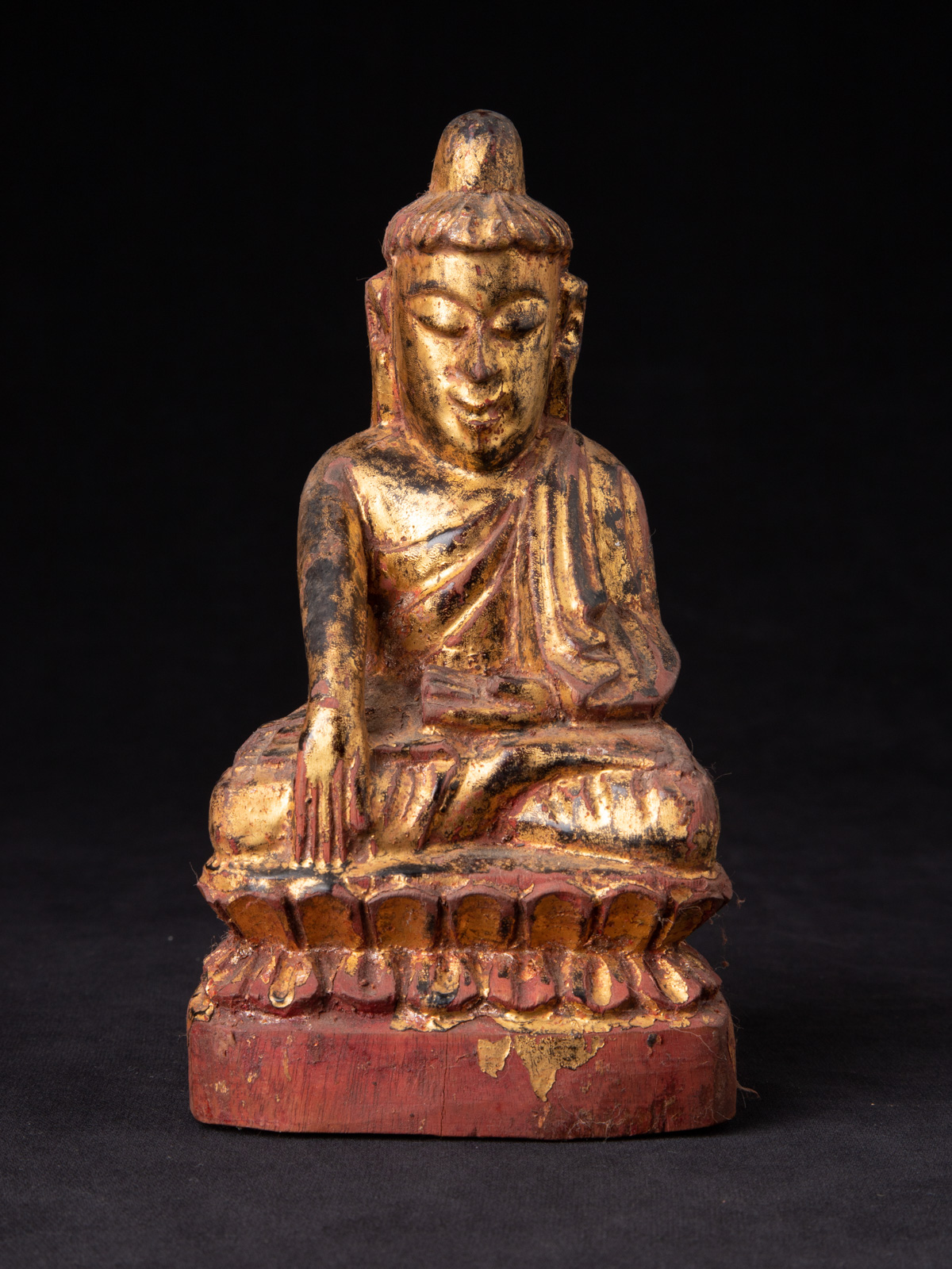 Antique Burmese Shan Buddha statue from Burma made from Wood