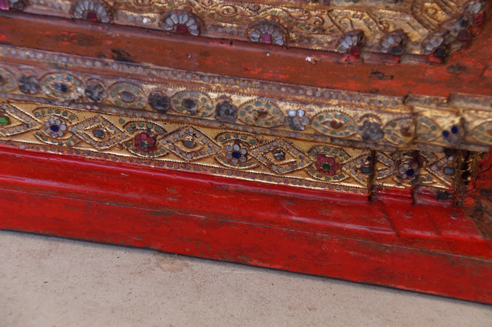 Antique Shan Throne from Burma made from Wood