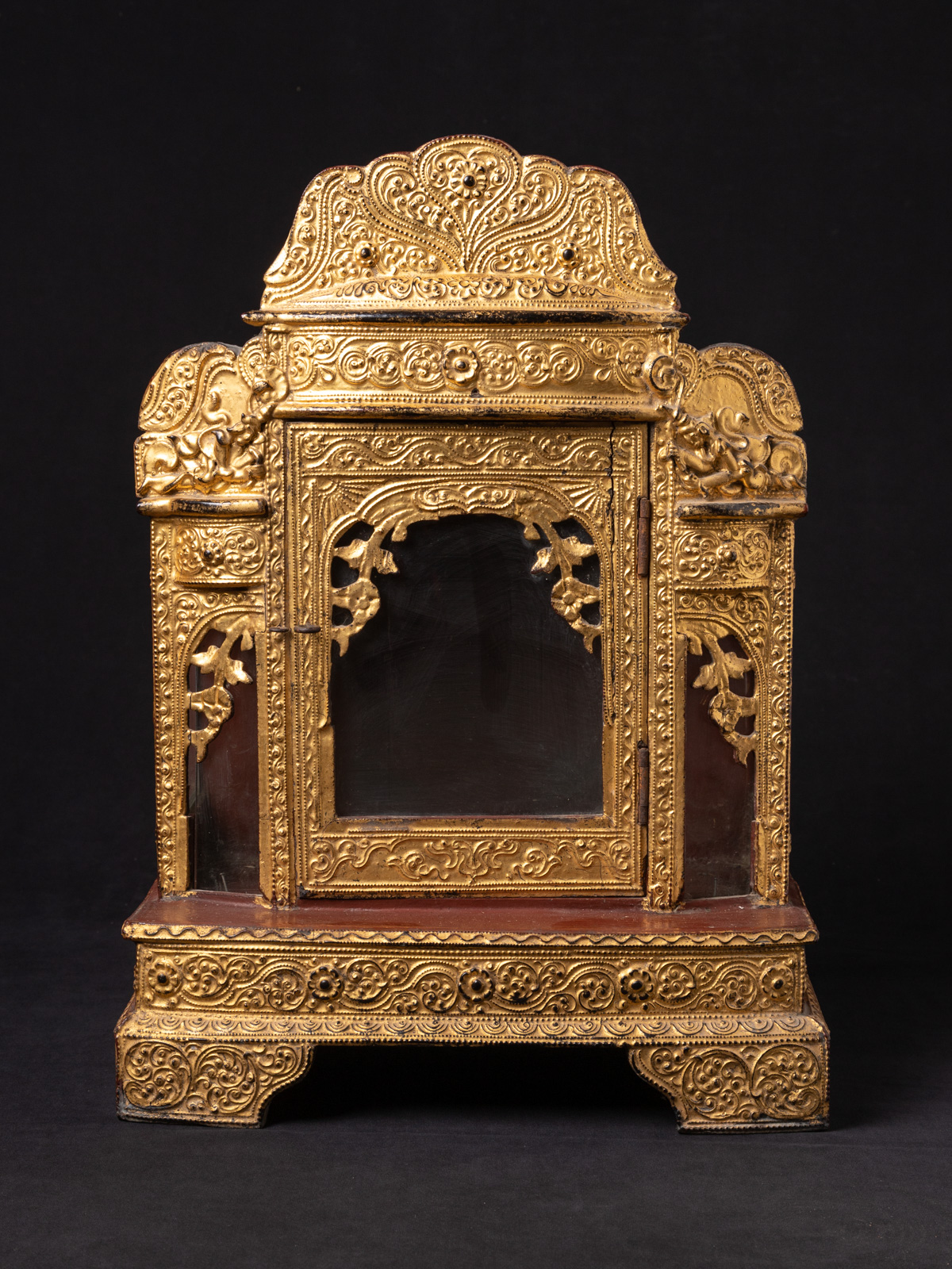 Antique Burmese shrine from Burma made from Wood